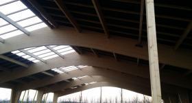 Domaine du Bois de l'Arc - La charpente / janvier 2017