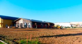 Chantier / juin 2017 - Salle - Extérieur côté parc